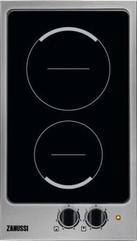 Placa Modular Zanussi ZES3921IBA Inox de 29 cm con 2 Zonas Vitrocerámicas Hi-Light Mandos frontales