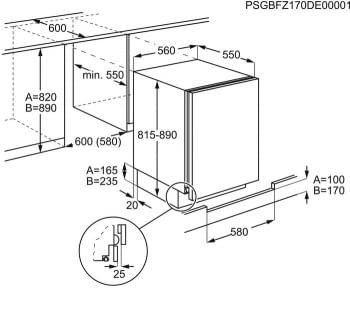 Congelador Vertical Zanussi ZUF11420SA 1P Integrable bajo encimera de 81.5 x 55 cm Blanco Clase A+ - 3