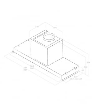 Grupo Filtrante ELICA GLASS OUT IX/A/90 Inoxidable, de 90 cm a 559 m³/h - 5