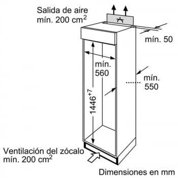 BALAY 3FIB3620 FRIGORIFICO 2P INTEGRABLE CICLICO 144.6x54.1CM A+ - 2
