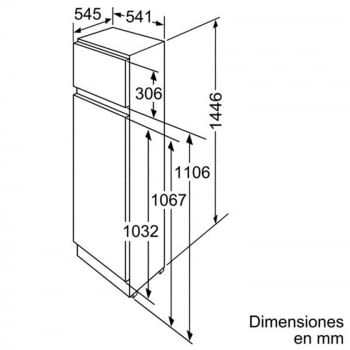 BALAY 3FIB3620 FRIGORIFICO 2P INTEGRABLE CICLICO 144.6x54.1CM A+ - 3