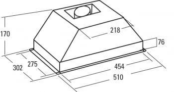 CATA G45 X GRUPO FILTRANTE INOX 51CM 390M3/H - 2