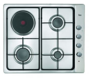 TEKA E/60.3 3G 1P AL NATURAL INOX PLACA GAS 3 FUEGOS +1ELECTRICA