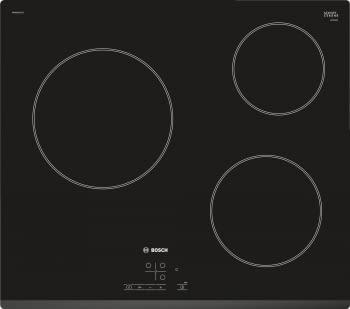Placa Vitrocerámica Bosch PKM631B17E de 60cm con 3 Zonas de Cocción de Max 24cm | TouchSelect | Serie 4
