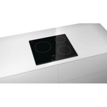 Placa Vitrocerámica Bosch PKM631B17E de 60cm con 3 Zonas de Cocción de Max 24cm | TouchSelect | Serie 4 - 4