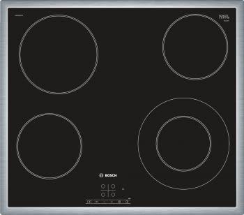 Placa Vitrocerámica Bosch PKF645B17E de 60 cm con 4 Zonas de cocción | TouchSelect | Serie 4