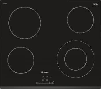 Placa Vitrocerámica Bosch PKF631B17E de 60 cm con 4 Zonas de cocción | TouchSelect | Serie 4