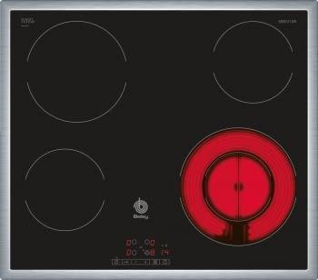 BALAY 3EB721XR VITROCERAMICA 4 ZONAS MARCO INOX - 1