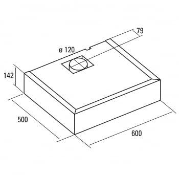 CATA S BOX CAMPANA CONVENCIONAL INOX 60CM 390M3/H - 2