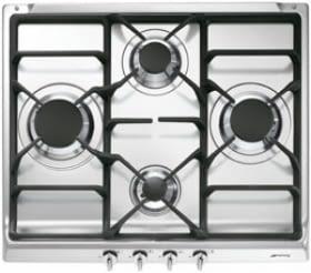 Placa Gas Smeg S60GHS 60cm 4 Fuegos Semifilo Inox | Envío Gratis - 1