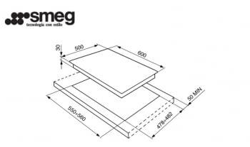 Placa Gas Smeg S60GHS 60cm 4 Fuegos Semifilo Inox | Envío Gratis - 2