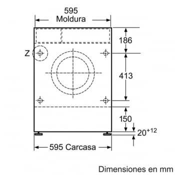 Bosch WKD28541EE Lavadora Función Secado Integrable 7kg Lavado 4kg Secado 1400rpm - 4