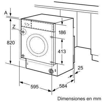 Bosch WKD28541EE Lavadora Función Secado Integrable 7kg Lavado 4kg Secado 1400rpm - 5