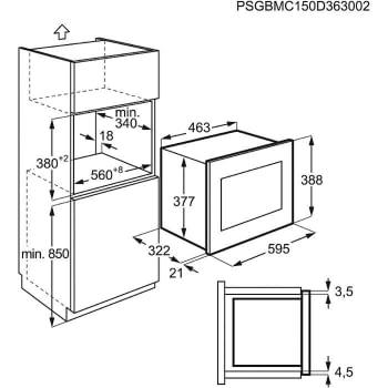 Microondas Electrolux EMM20007OX Integrable Inox antihuellas de 20 l Potencia máxima 800 W - 4