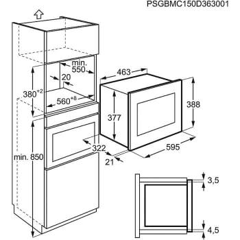 Microondas Electrolux EMM20007OX Integrable Inox antihuellas de 20 l Potencia máxima 800 W - 5