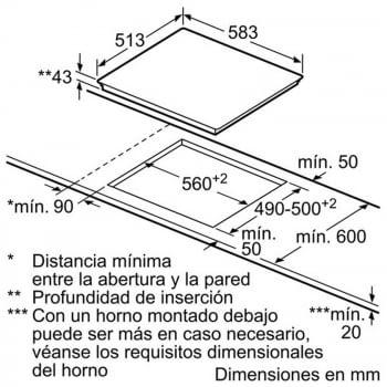 BALAY 3EB715XR VITROCERAMICA 3 ZONAS MARCO INOX 60CM - 3