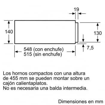 BOSCH BIC630NS1 MODULO CALENTAMIENTO INOX NEGRO CRISTAL ALTO 14CM - 3