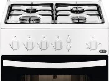 Cocina a Gas Zanussi ZCG510G1WA Blanca de 86 x 50 cm con 4 quemadores gas butano y Horno de gas con Grill - 2