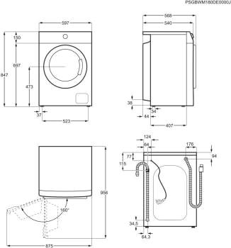 Lavadora Zanussi ZWF81243W Libre Blanca de 8 kg a 1200 rpm FlexiDose Clase A+++ - 5