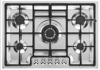 Placa Gas SMEG PGF75-4 75cm 5 Fuegos Semifilo Inox | Envío Gratis