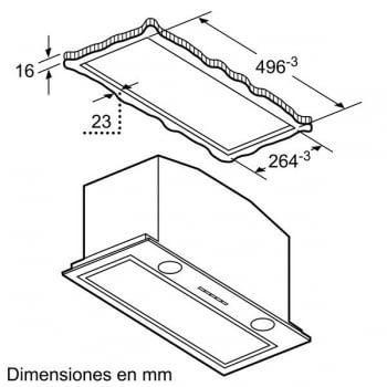 Módulo de integracón Bosch DHL585B Inoxidable de 52 cm a 650 m³/h | Clase C | Serie 6 - 6