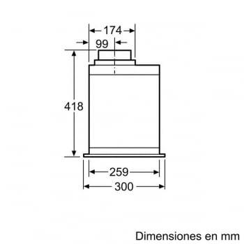 Módulo de integracón Bosch DHL585B Inoxidable de 52 cm a 650 m³/h | Clase C | Serie 6 - 7