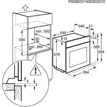 ELECTROLUX EOC5751FOX HORNO INOX PIROLITICO ABATIBLE A+ - 5
