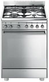 SMEG CX68MF8-2 Cocina Gas Clasica 60cm 4 Fugos Inox CLASE A | Envío Gratis