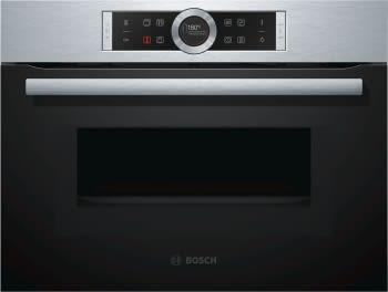 Horno Microondas Bosch CMG633BS1 Inoxidable de 60 cm | 14 Recetas pre-programadas Gourmet | Función Sprint | Serie 8