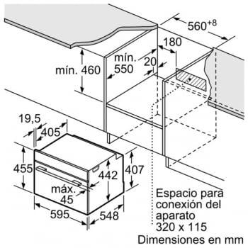 Horno Microondas Bosch CMG633BS1 Inoxidable de 60 cm | 14 Recetas pre-programadas Gourmet | Función Sprint | Serie 8 - 8