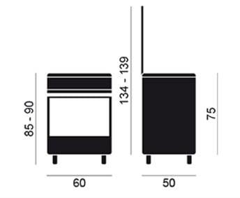 VITROKITCHEN UN6050IN COCINA GLEM GAS NATURAL 60X50CM 4 FUEGOS - 3