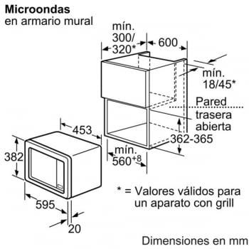 Bosch HMT72G650 Microondas inoxidable Columna | 18 Litros | Función Grill - 4