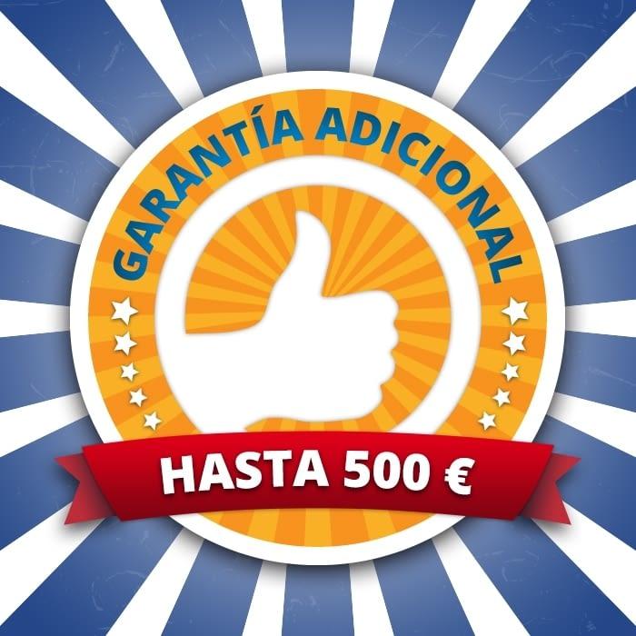 AMPLIACIÓN GARANTÍA 3 AÑOS VALOR MÁXIMO 500 EUROS -