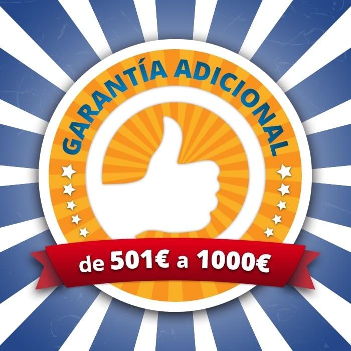 AMPLIACIÓN GARANTÍA 3 AÑOS VALOR MÁXIMO 1000 EUROS -