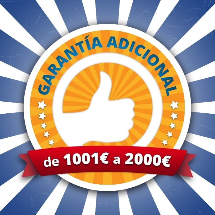 AMPLIACIÓN GARANTÍA 3 AÑOS VALOR MÁXIMO 2000 EUROS -