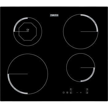 Placa de Inducción Zanussi ZEI6840FBA de 60 cm con 4 Zonas Power Max 21 cm a 2800 W Anclaje easy-fix sin marco
