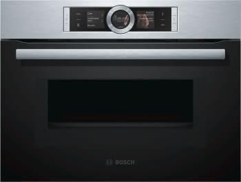 Horno Microondas Bosch CMG676BS1 Pirolítico Inoxidable de 60 cm | Asistente de cocción | Serie 8