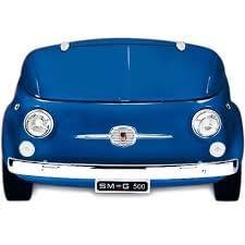 Smeg SMEG500BL Frigorífico Azul | Diseño capó coche | Línea Retro Años 50 | A+ | ¡Envío Gratis!