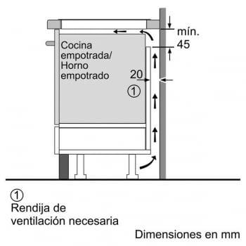 Placa de Inducción Bosch PID631BB1E de 60 cm con 3 Zonas de cocción con función Sprint | TouchSelect | Serie 4 | - 7