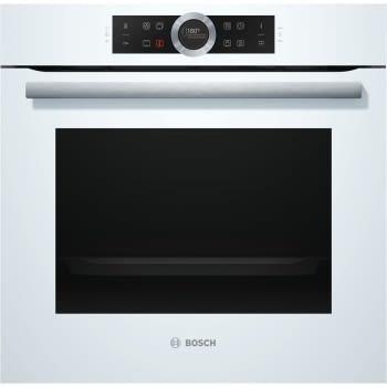 Horno Bosch HBG675BW1 Pirolítico Blanco de 60 cm | Recetas Pre-Programadas Gourmet | Calentamiento 4D Profesional | Clase A+ | Serie 8