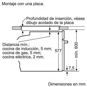 Horno Bosch HBG635NS1 Inoxidable de 60 cm | Recetas pre-programadas Gourmet | Calentamiento 4D Profesional | Clase A+ - 7