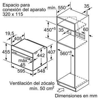 Bosch CMG633BW1 Horno Microondas Multifunción Compacto 45cm | Cristal Blanco | Abatible | Stock - 5