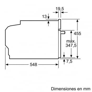 Bosch CMG633BW1 Horno Microondas Multifunción Compacto 45cm | Cristal Blanco | Abatible | Stock - 7