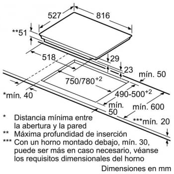 Placa de inducción Bosch PIE875DC1E de 80 cm con 4 Zonas de cocción  | Serie 8 - 4