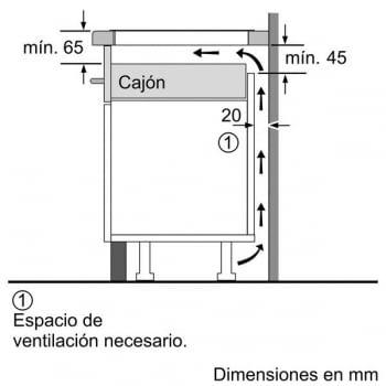 Placa de Inducción Bosch PXJ651FC1E | 60cm | 2 Zonas Boost | 1 doble Flex de 21x40 cm y 1 Maxx de 28cm | Serie 6 | Biselada - 5