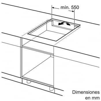 Placa de Inducción Bosch PIJ651FC1E de 60 cm con 3 Zonas | PerfectFry | DirectSelect | Serie 6 | STOCK - 5