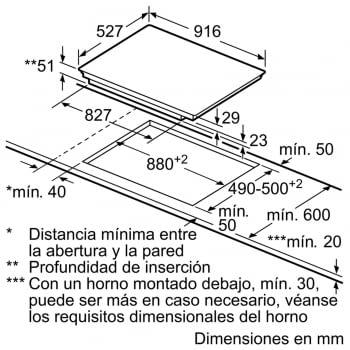 Placa de Inducción Bosch PXV975DC1E |90cm | 5 zonas - Max.32 cm | 2 zonas Flex | Direct Select Premium - 4
