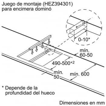 Placa Modular Bosch PXX375FB1E de Inducción de 30 cm con 1 Zona doble Flex Inducción | DirectSelect | Serie 6 - 8