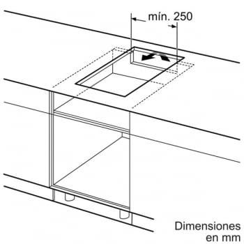 Placa de Inducción Bosch PIB375FB1E | 30 cm | Modular | 2 Zonas de Inducción con Sprint | DirectSelect | Serie 6 - 4