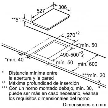 Placa de Inducción Bosch PIB375FB1E | 30 cm | Modular | 2 Zonas de Inducción con Sprint | DirectSelect | Serie 6 - 5